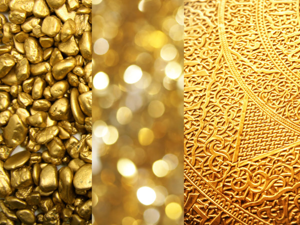 3 Gold backgrounds HD pictures
