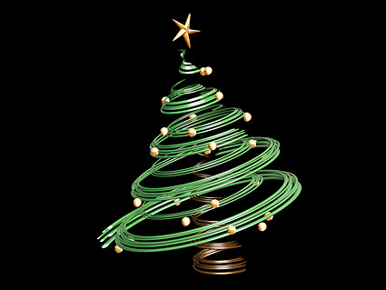 3D Christmas tree materials