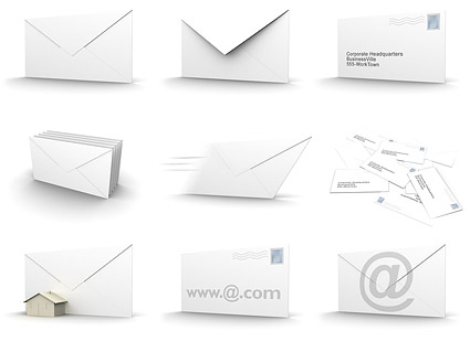 3D envelopes picture material