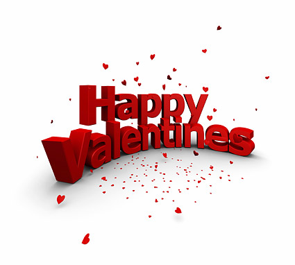 3D  happy Valentine's   three-dimensional modeling pictures