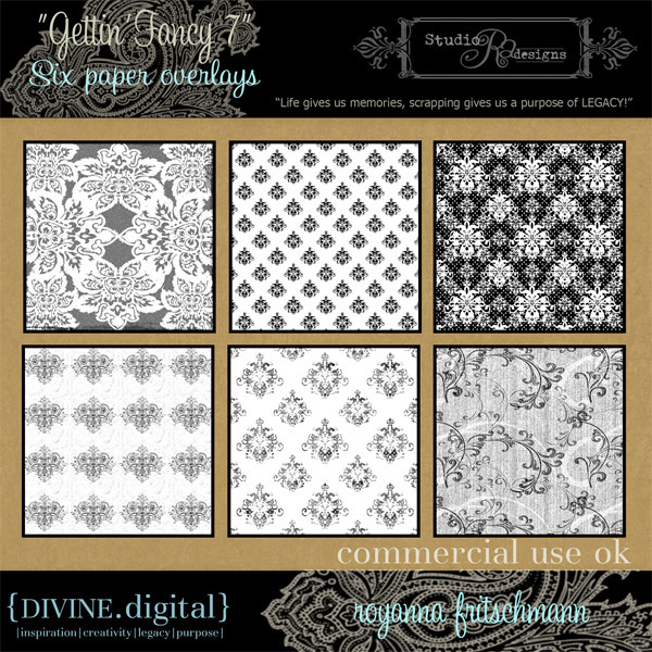 6 European style pattern tile backgrounds HD pictures