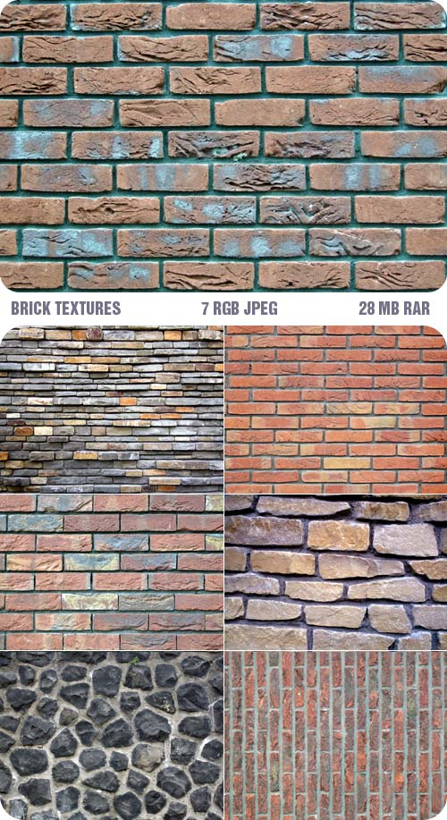 7 high resolution brick wall texture pattern