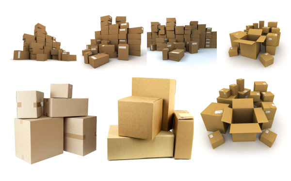 A pile of cardboard box HD pictures