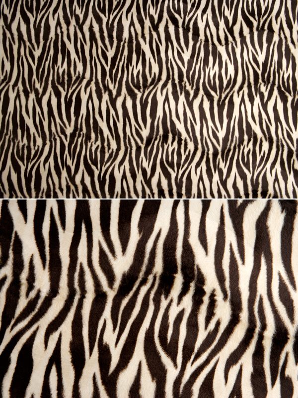 Black and white zebra pattern fleece fabric backgrounds HD pictures (2P)
