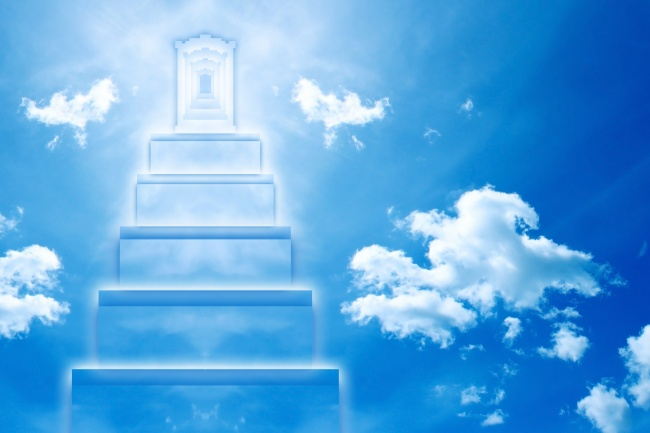 Blue Sky creative ladder HD pictures