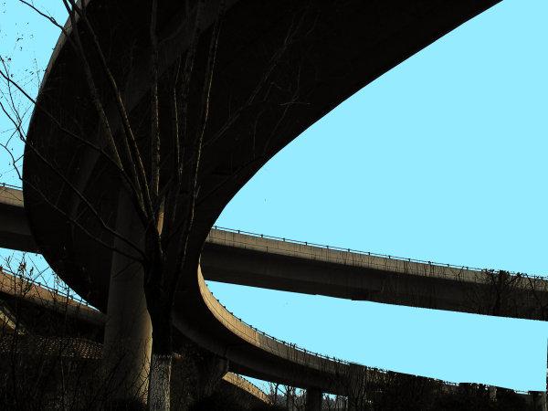 Bridge and letter e