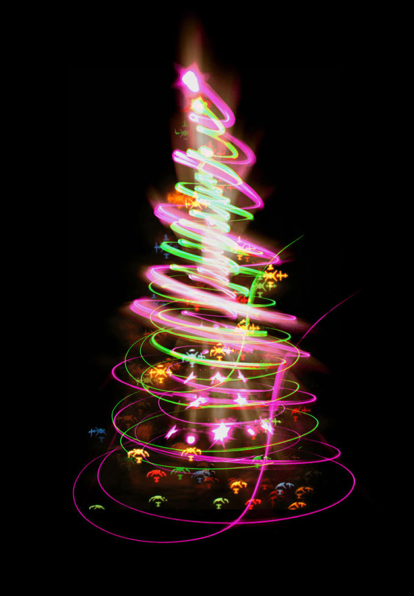 Bright glow Christmas tree 01--HD pictures