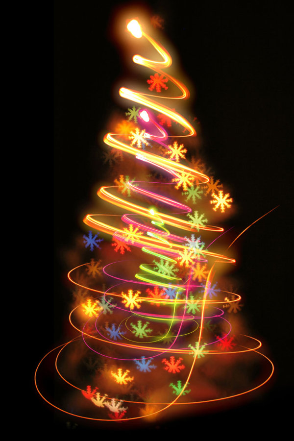 Bright glow Christmas tree 02--HD pictures