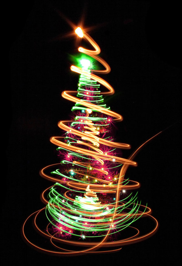 Bright glow Christmas tree 03--HD pictures