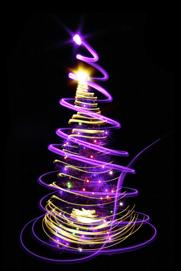 Bright glow Christmas tree 05--HD pictures
