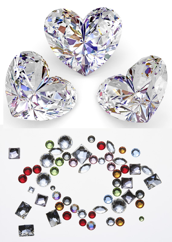 Bright heart-shaped diamond HD pictures