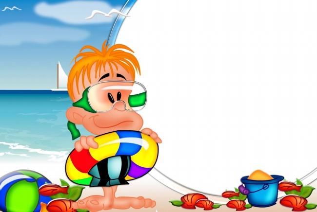 Children cartoon photo frame picture