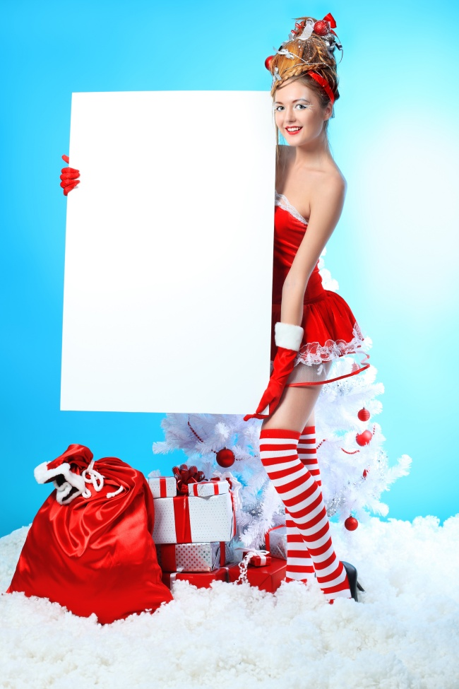 Christmas beauty blank sign pictures