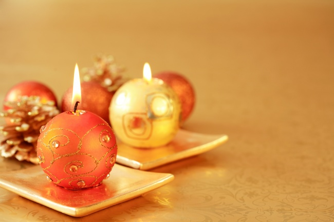 Christmas decorative candle picture download