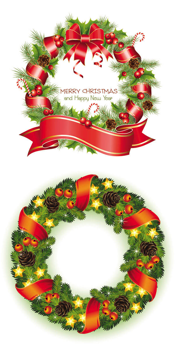 Christmas Wreath 3--vector material