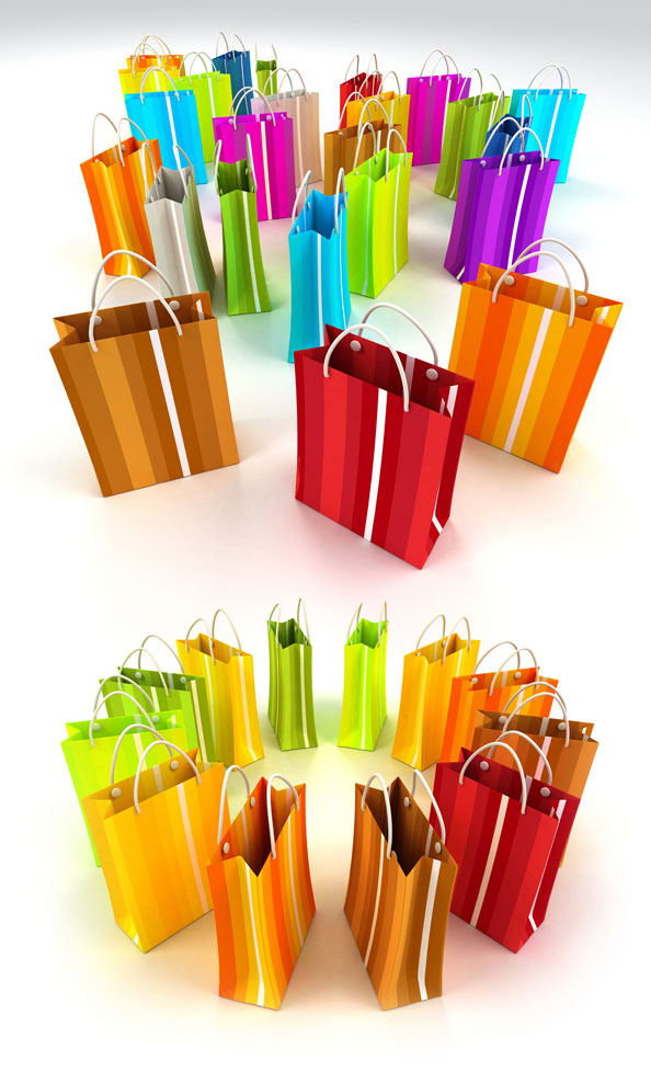 Color shopping bags HD pictures