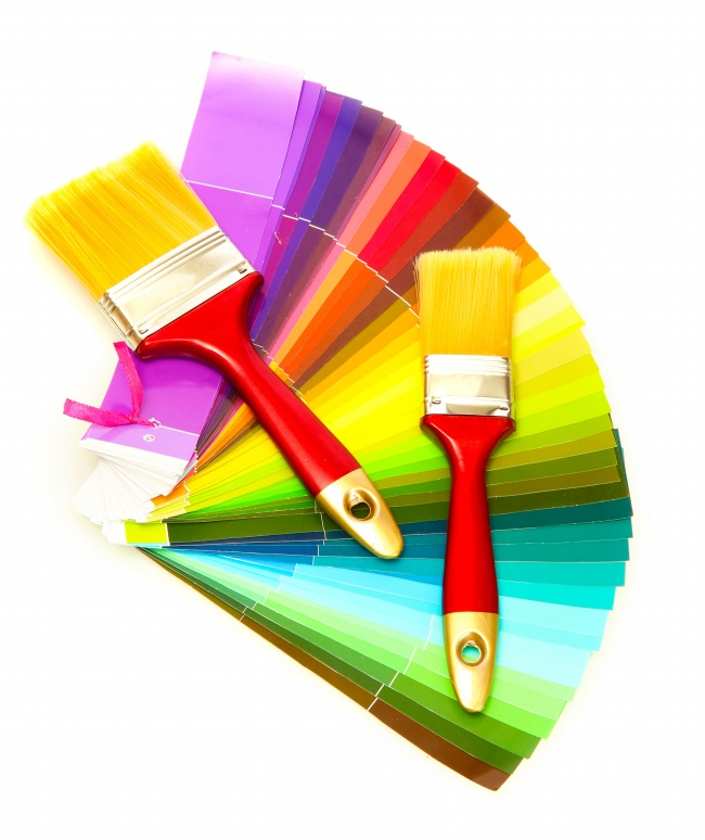 Colored paper and brush pictures download