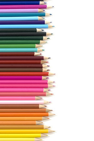 Colored pencils arranged picture material