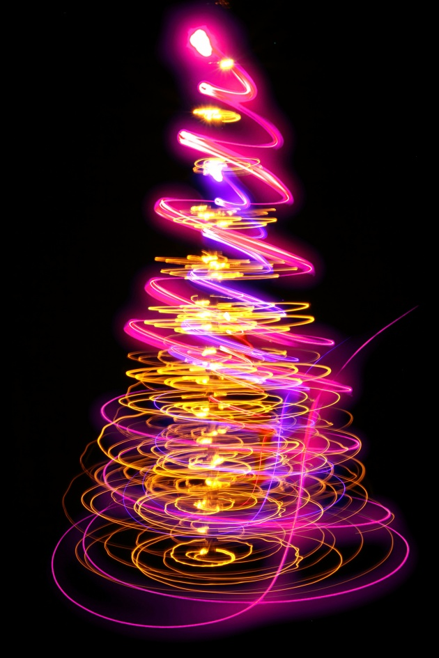Colorful Christmas tree picture download