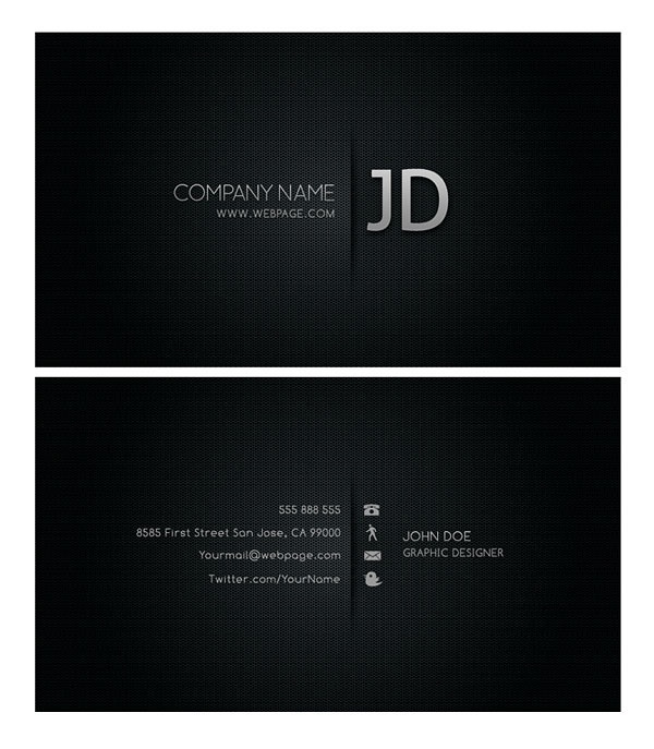 Cool business card template source files : Free download