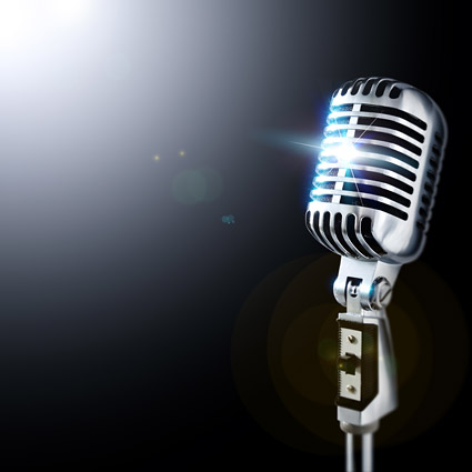 Cool microphone picture material-1