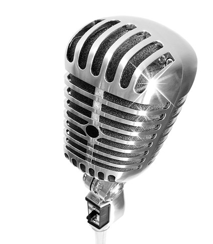 Cool microphone picture material-4