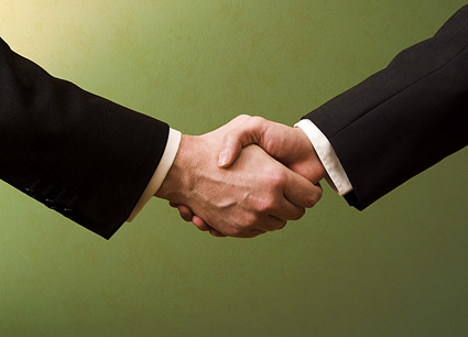 Cooperation handshake picture material