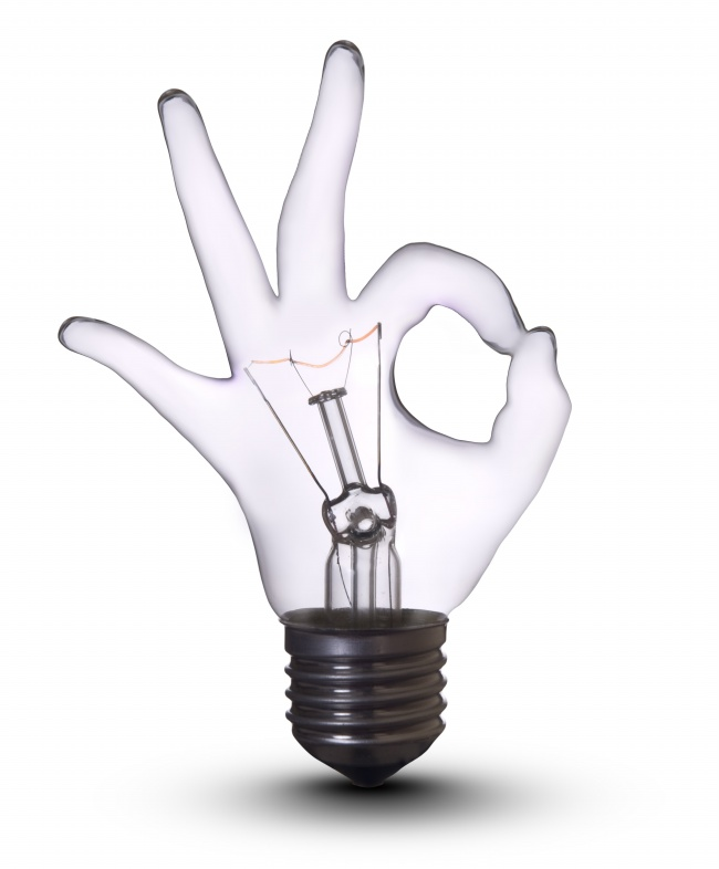 Creative gesture bulb picture download