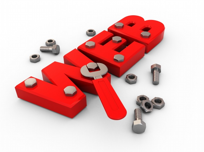 Creative WEB letters red screw pictures