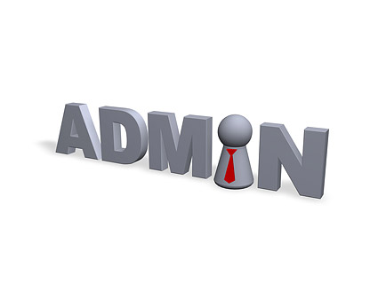 English fonts 3D administrator picture material