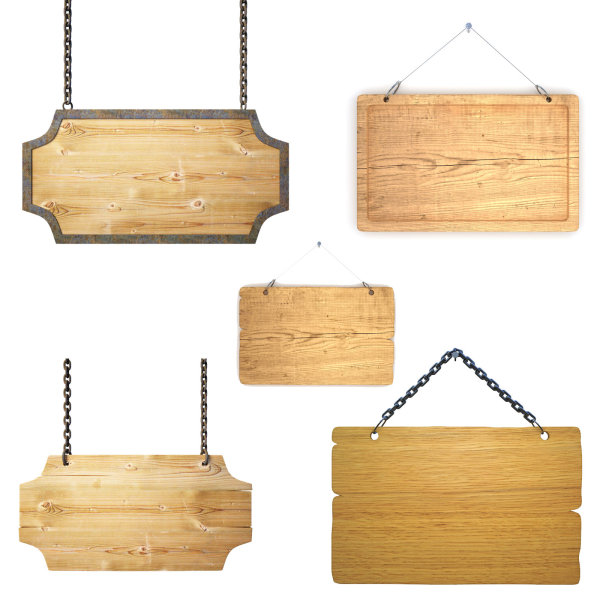 Exquisite wooden hangtag HD pictures