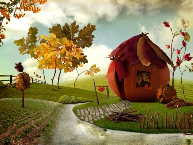 Fantasy cartoon landscape picture download