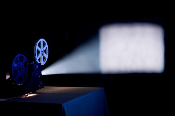 Film projector projection picture material