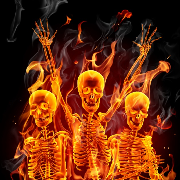 Flame skull picture HD download