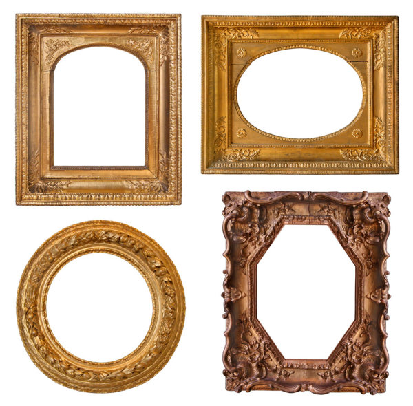 Frame with beautiful carving 04--HD pictures