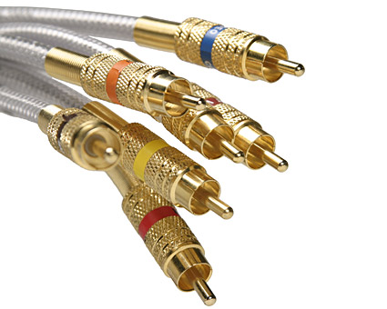 Gold audio line quality picture material