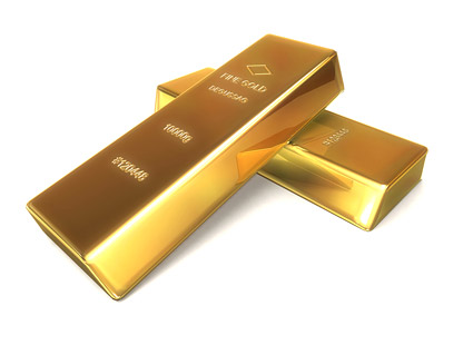 Gold bar quality picture material