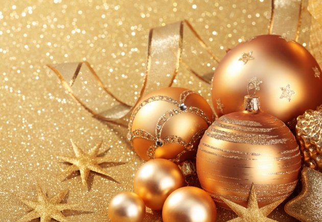 Golden Christmas background pictures to download