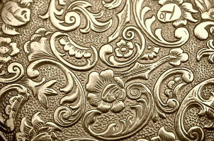 Golden European pattern background picture material