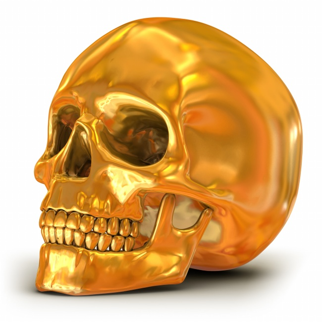 Golden skull picture download