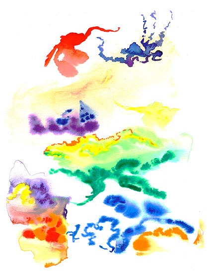 GoMedia produced watercolor ink picture material-012