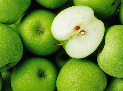 Green Apple background picture material