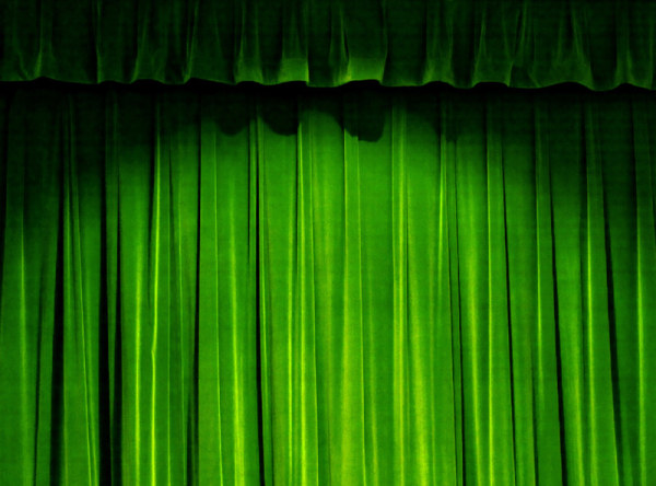 Green curtain HD picture material