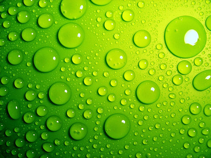 Green drops background picture material