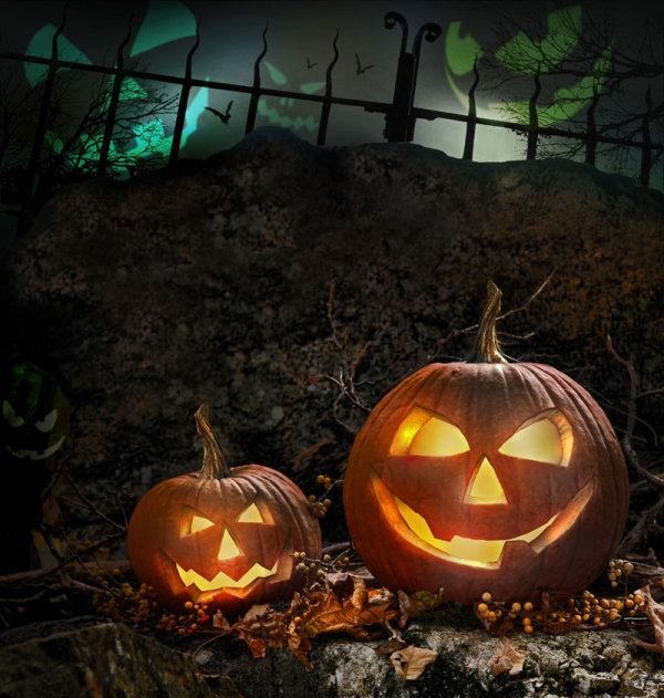 Halloween background 01--HD pictures