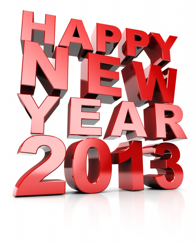 Happy new year 2013 font pictures