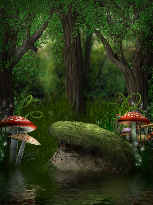 HD cartoon forest picture download
