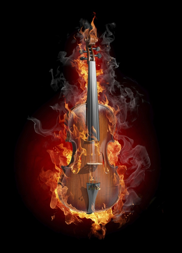 HD guitar flame picture download