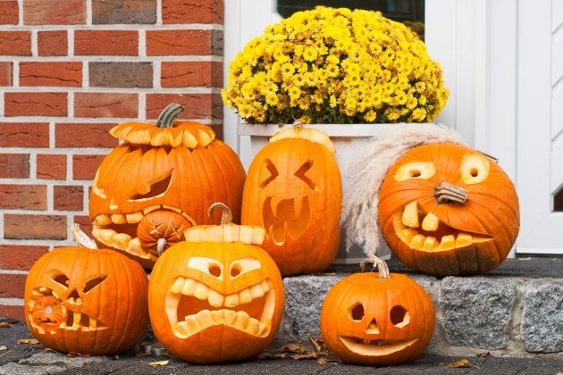 HD Halloween Jack-o-lanterns and paper pictures