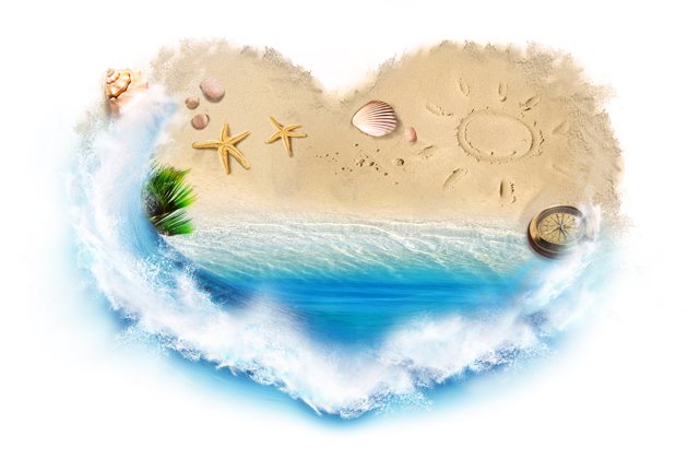 HD love sand picture download